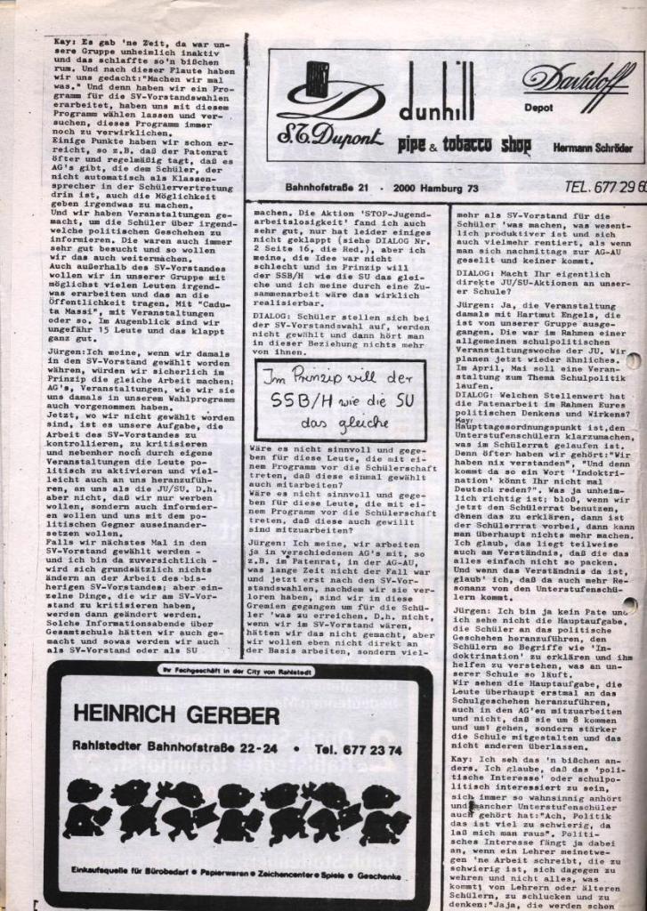 Dialog _ Zeitung für das Gymnasium Rahlstedt, Nr. 1/1978, Seite 6