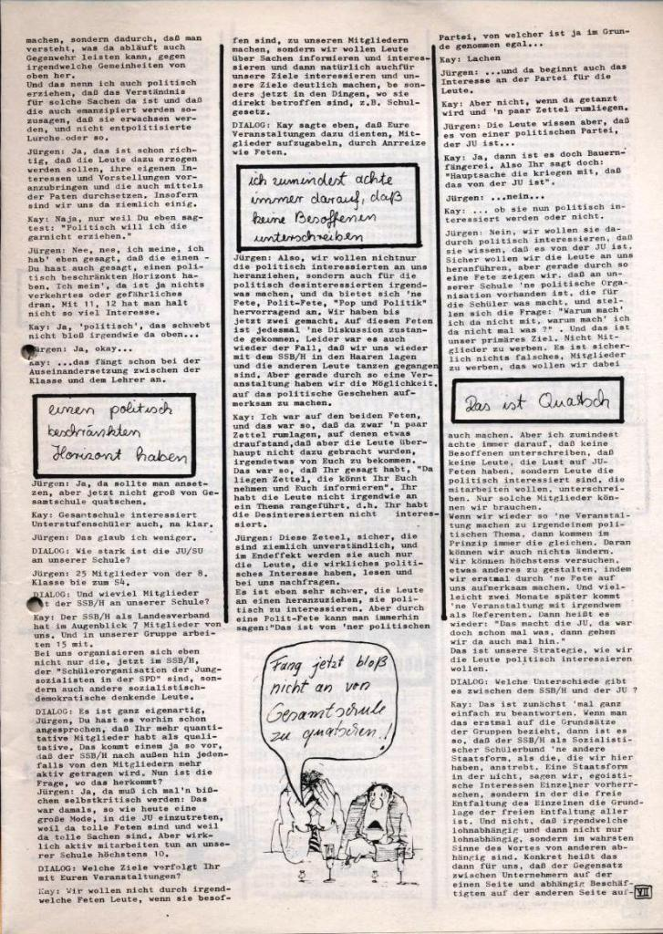 Dialog _ Zeitung für das Gymnasium Rahlstedt, Nr. 1/1978, Seite 7