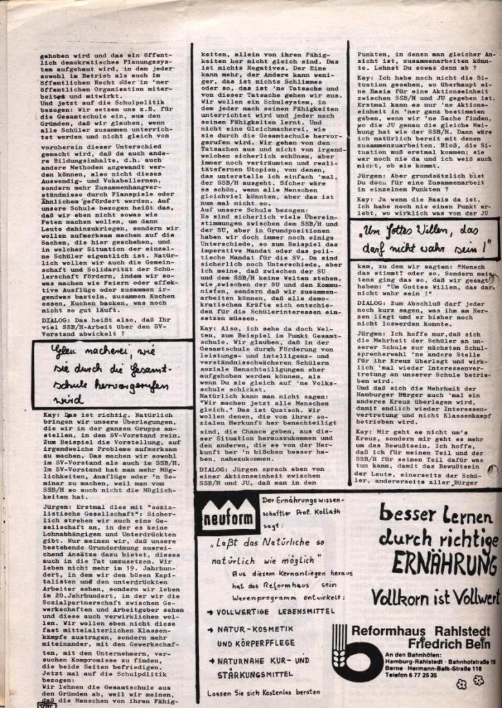 Dialog _ Zeitung für das Gymnasium Rahlstedt, Nr. 1/1978, Seite 8