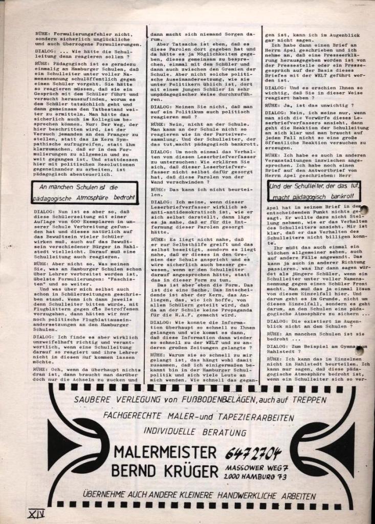 Dialog _ Zeitung für das Gymnasium Rahlstedt, Nr. 1/1978, Seite 14