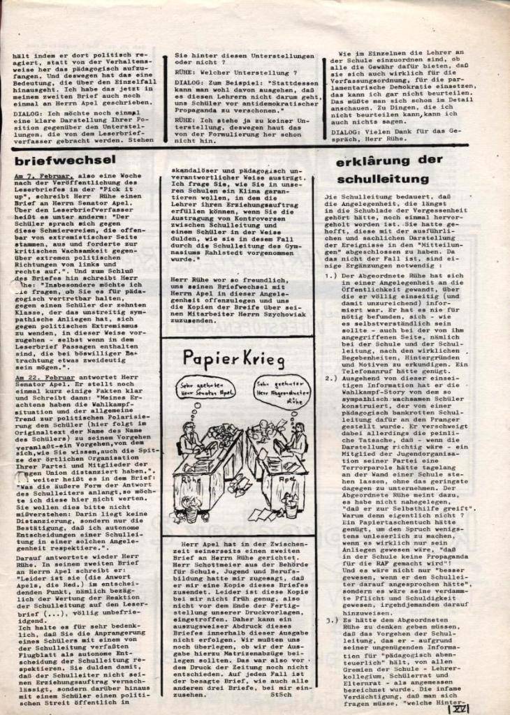 Dialog _ Zeitung für das Gymnasium Rahlstedt, Nr. 1/1978, Seite 15