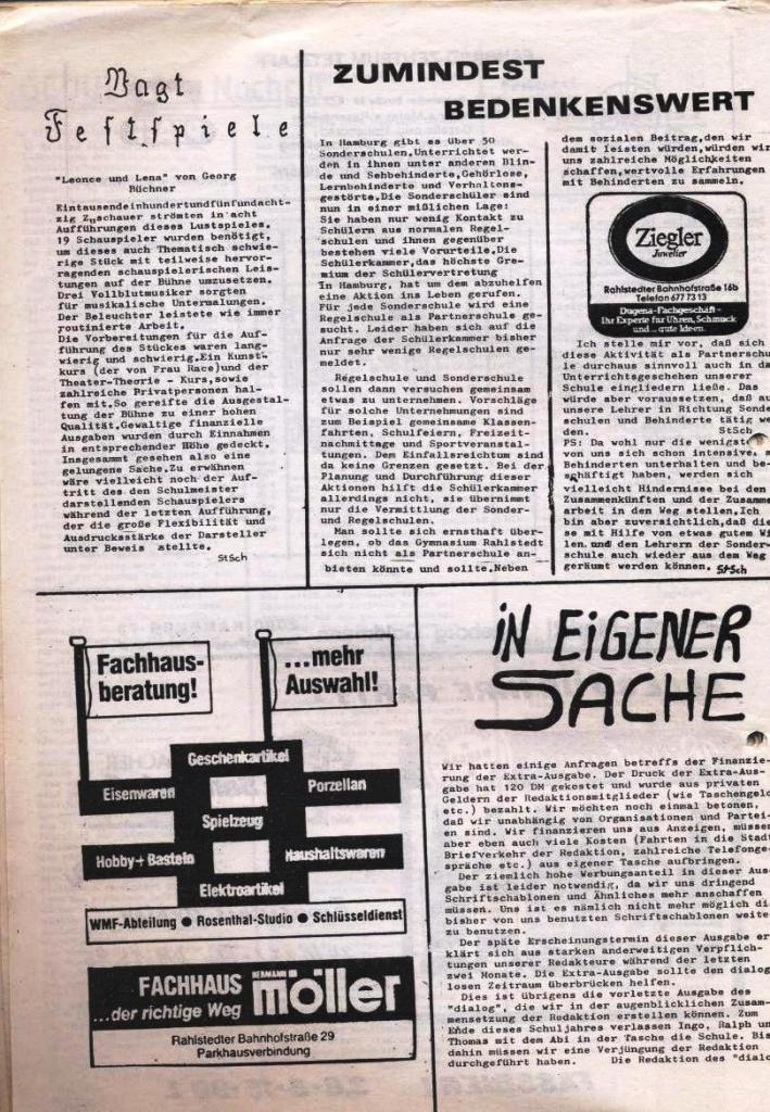 Dialog _ Zeitung für das Gymnasium Rahlstedt, Nr. 1/1978, Seite 20