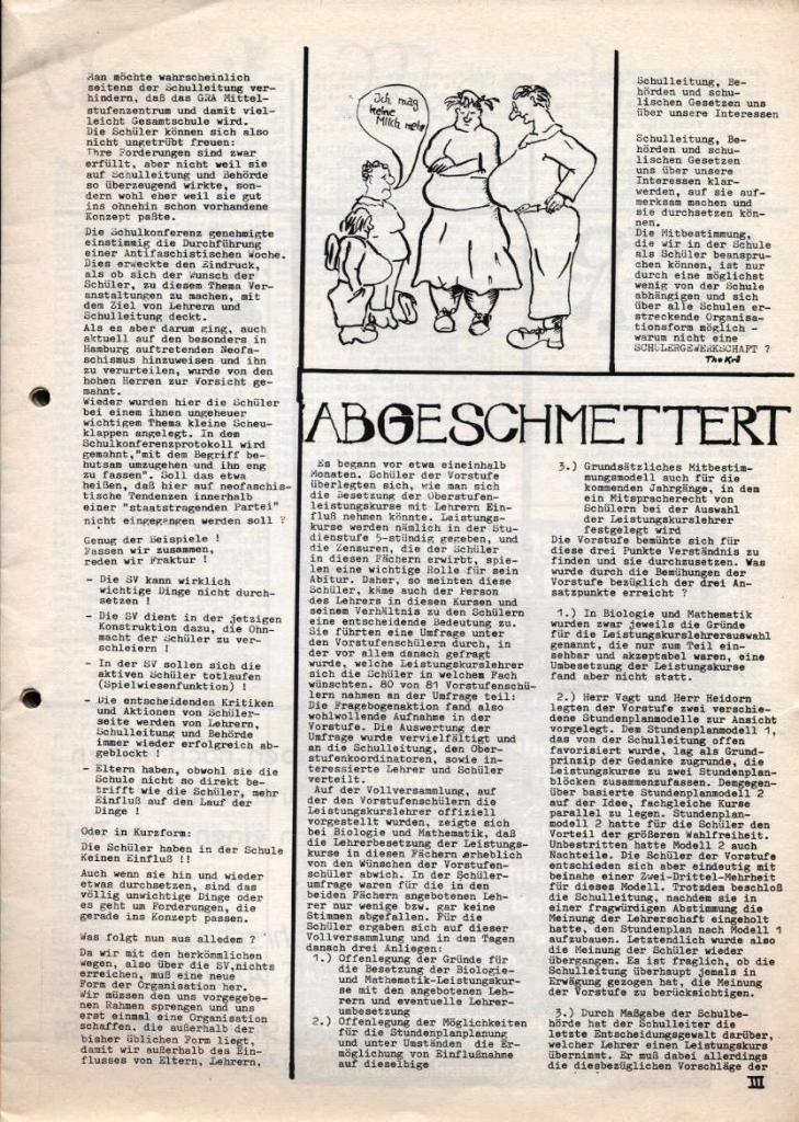 Dialog _ Zeitung für das Gymnasium Rahlstedt, Nr. 2/1978, Seite 3