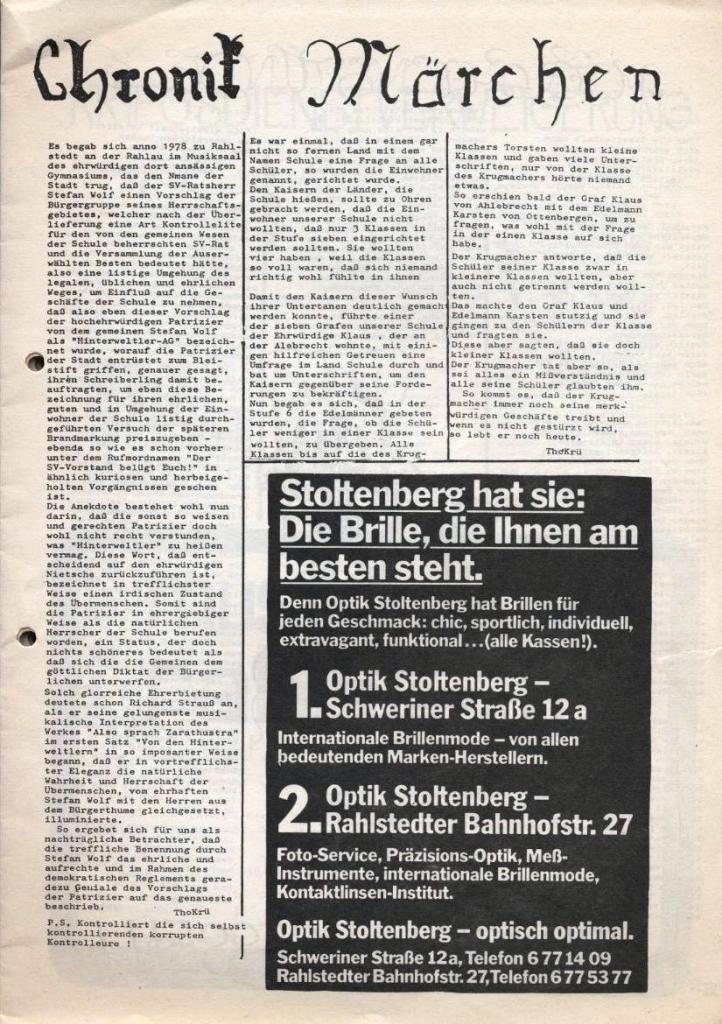 Dialog _ Zeitung für das Gymnasium Rahlstedt, Nr. 2/1978, Seite 5