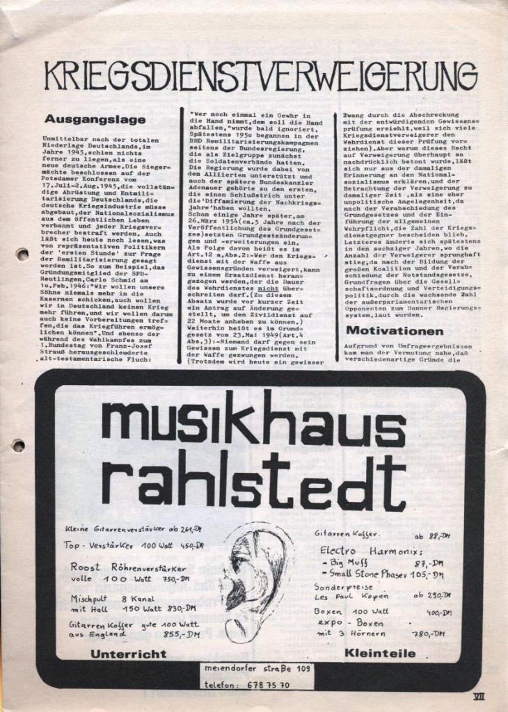 Dialog _ Zeitung für das Gymnasium Rahlstedt, Nr. 2/1978, Seite 7