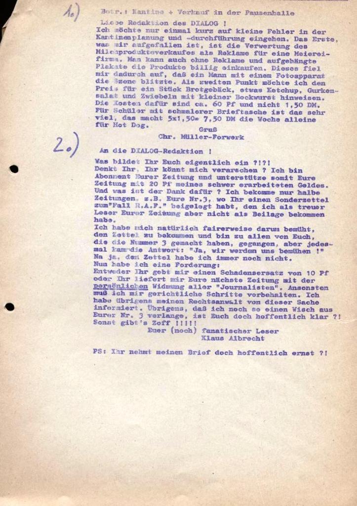 Dialog _ Zeitung für das Gymnasium Rahlstedt, Nr. 2/1978, Zusatz_Seite 2