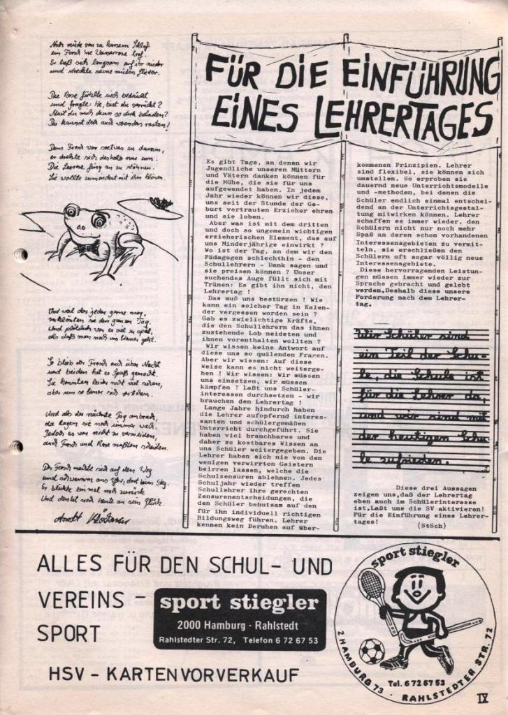 Dialog _ Zeitung für das Gymnasium Rahlstedt, Nr. 2/1978, Seite 9