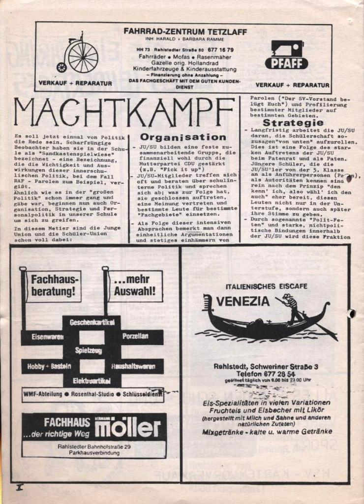 Dialog _ Zeitung für das Gymnasium Rahlstedt, Nr. 2/1978, Seite 10
