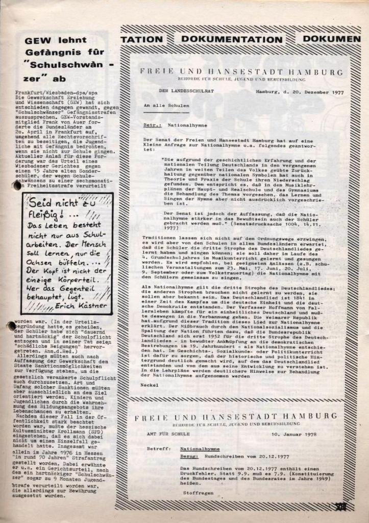 Dialog _ Zeitung für das Gymnasium Rahlstedt, Nr. 2/1978, Seite 13