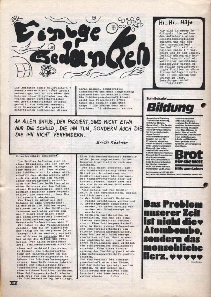 Dialog _ Zeitung für das Gymnasium Rahlstedt, Nr. 2/1978, Seite 14
