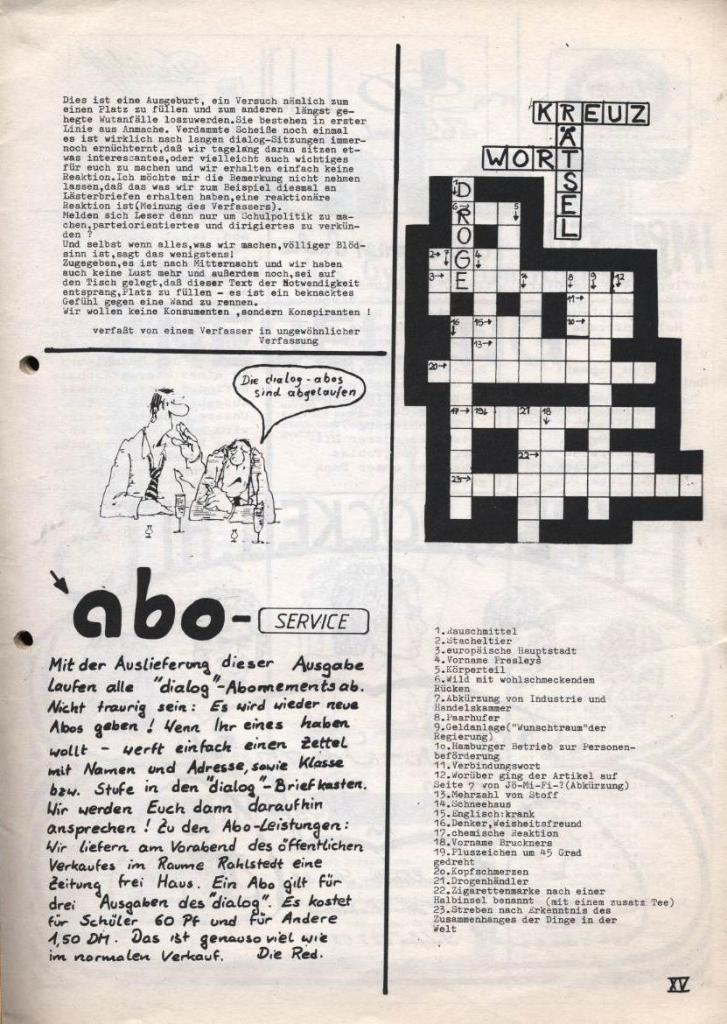 Dialog _ Zeitung für das Gymnasium Rahlstedt, Nr. 2/1978, Seite 15