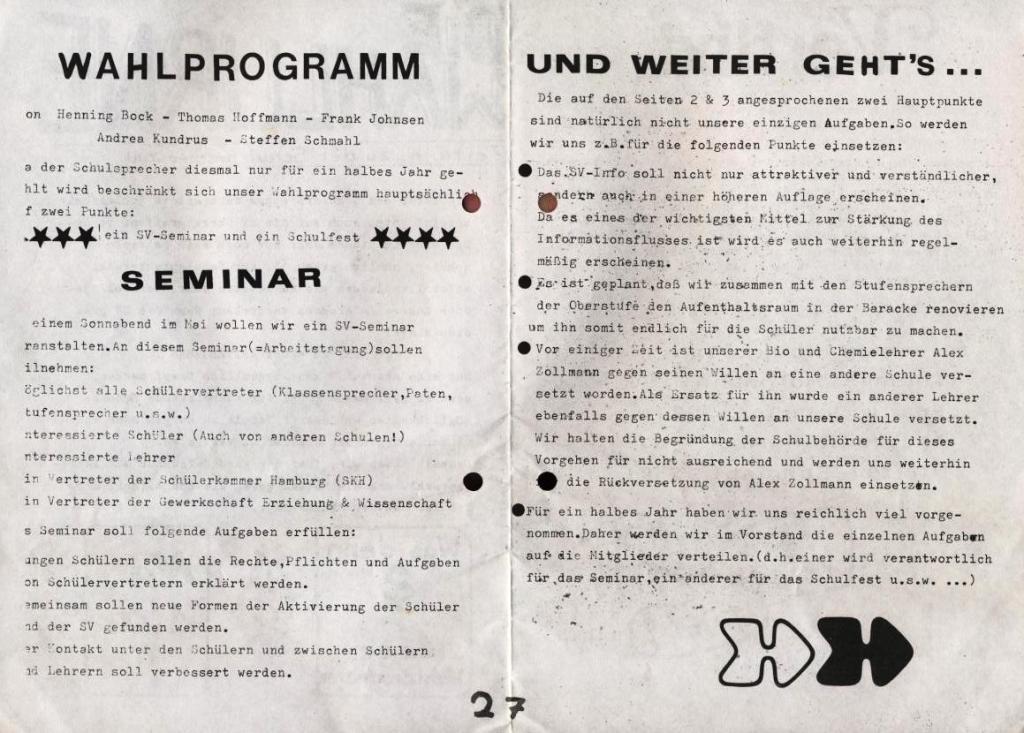 Die Wahlurne _ Zeitung zu der Schulsprecherwahl 1975, S. 2 und 7