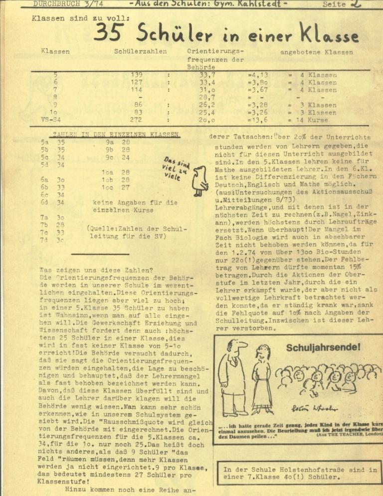Durchbruch _ Rahlstedter Schülerpresse, 2. Jg., 1974, Nr. 3, Seite 2