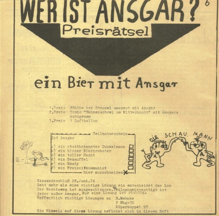 Durchbruch _ Rahlstedter Schülerpresse, 2. Jg., 1974, Nr. 3, Seite 6