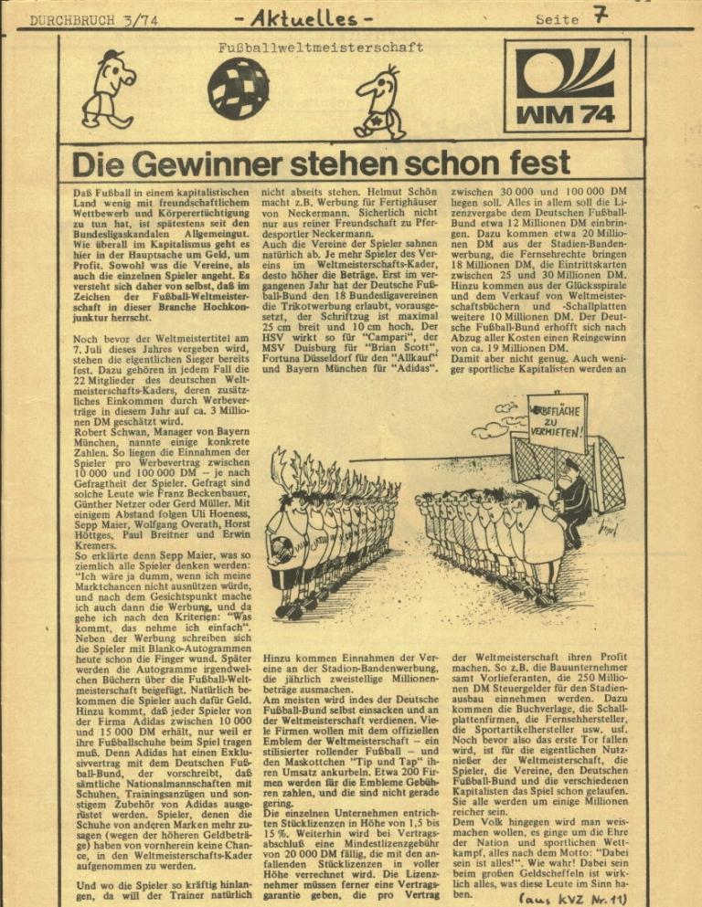 Durchbruch _ Rahlstedter Schülerpresse, 2. Jg., 1974, Nr. 3, Seite 7