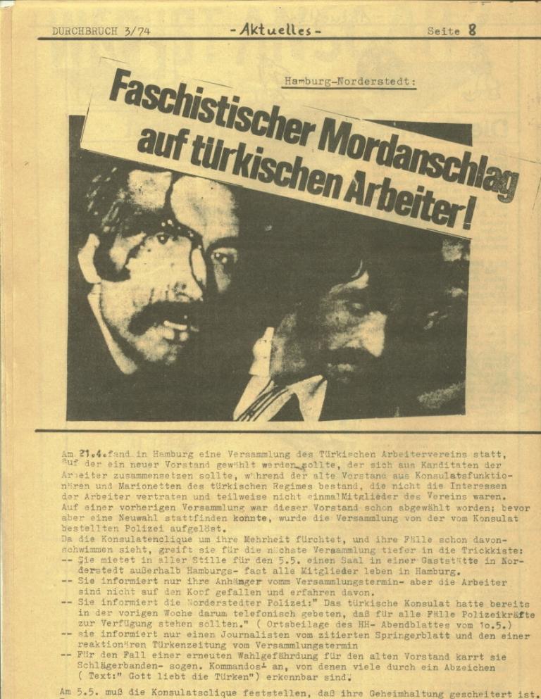 Durchbruch _ Rahlstedter Schülerpresse, 2. Jg., 1974, Nr. 3, Seite 8