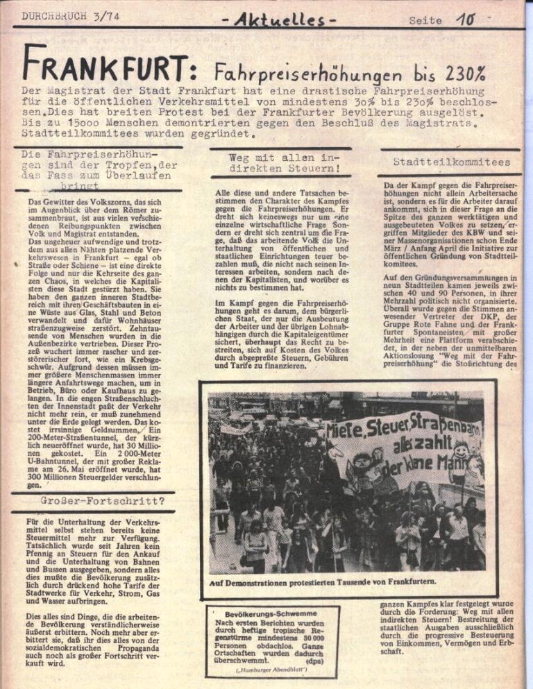 Durchbruch _ Rahlstedter Schülerpresse, 2. Jg., 1974, Nr. 3, Seite 11