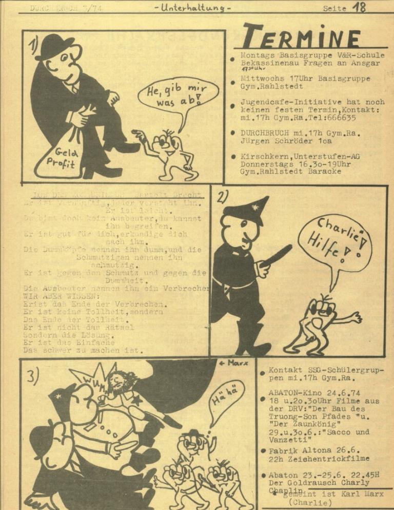 Durchbruch _ Rahlstedter Schülerpresse, 2. Jg., 1974, Nr. 3, Seite 18