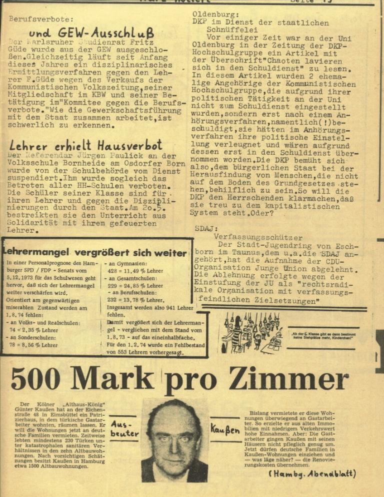 Durchbruch _ Rahlstedter Schülerpresse, 2. Jg., 1974, Nr. 3, Seite 19