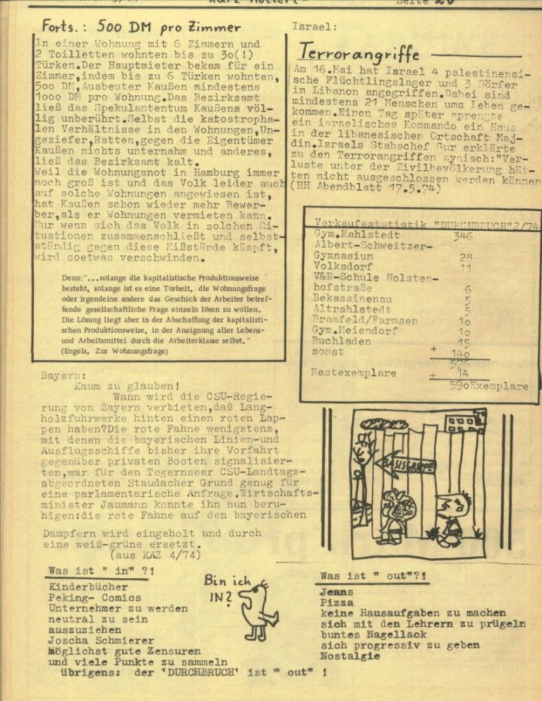 Durchbruch _ Rahlstedter Schülerpresse, 2. Jg., 1974, Nr. 3, Seite 20