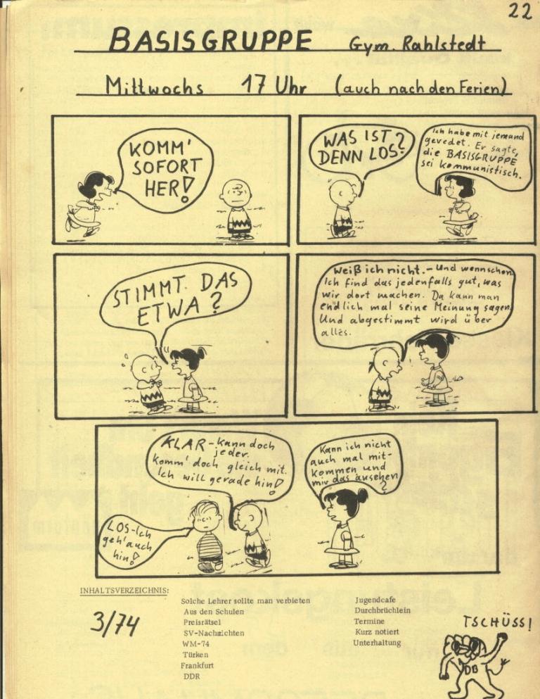 Durchbruch _ Rahlstedter Schülerpresse, 2. Jg., 1974, Nr. 3, Seite 22