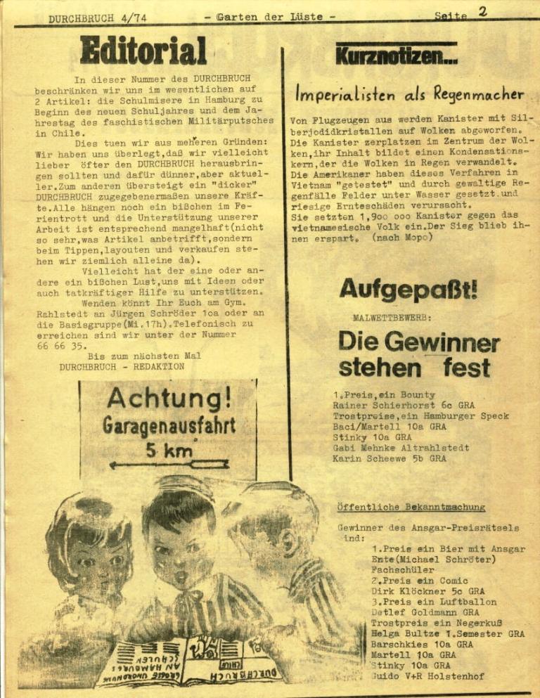 Durchbruch _ Rahlstedter Schülerpresse, 2. Jg., 1974, Nr. 4, Seite 2