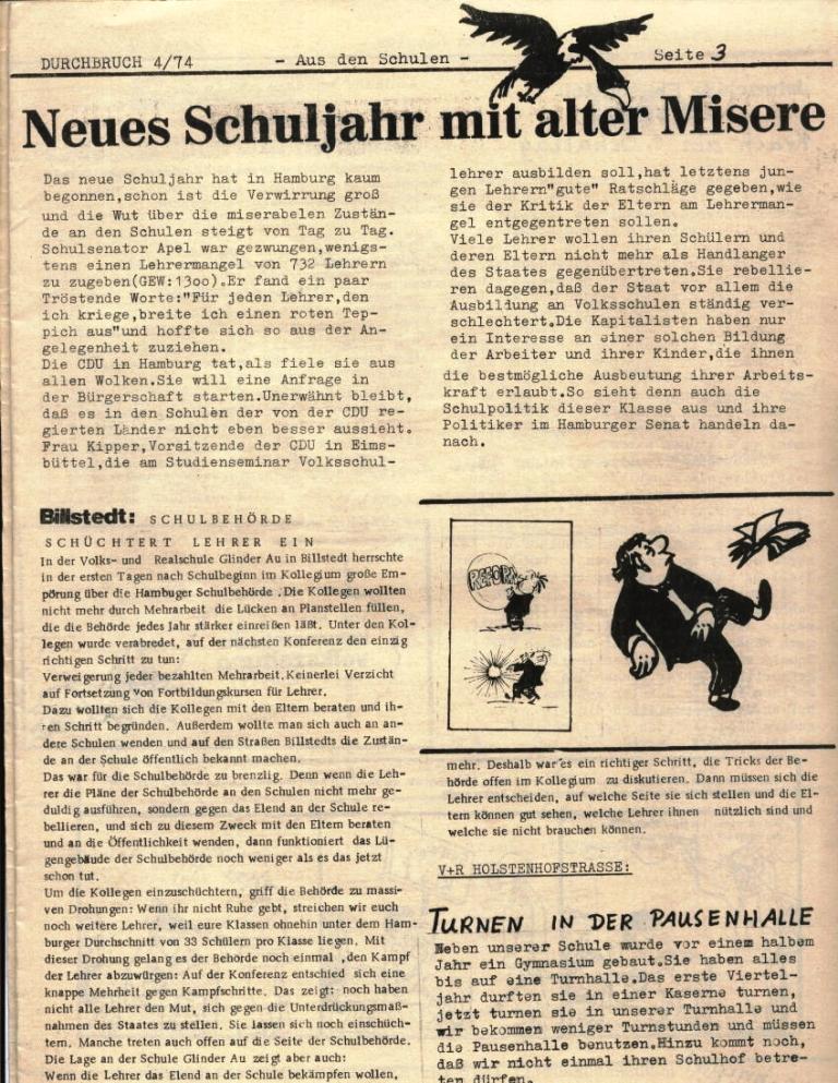 Durchbruch _ Rahlstedter Schülerpresse, 2. Jg., 1974, Nr. 4, Seite 3
