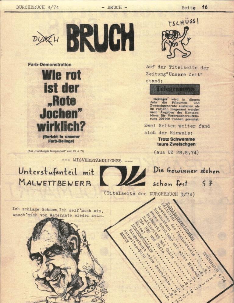 Durchbruch _ Rahlstedter Schülerpresse, 2. Jg., 1974, Nr. 4, Seite 16