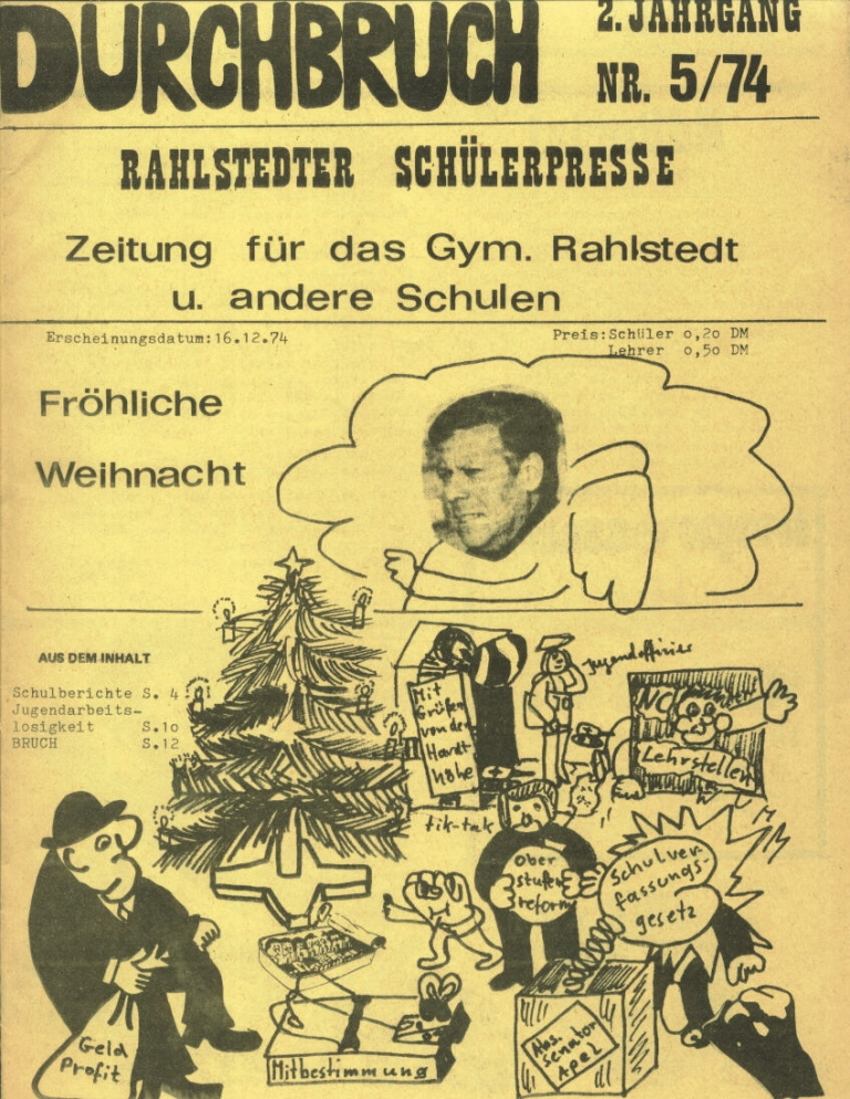 Durchbruch _ Rahlstedter Schülerpresse, 2. Jg., 1974, Nr. 5, Seite 1