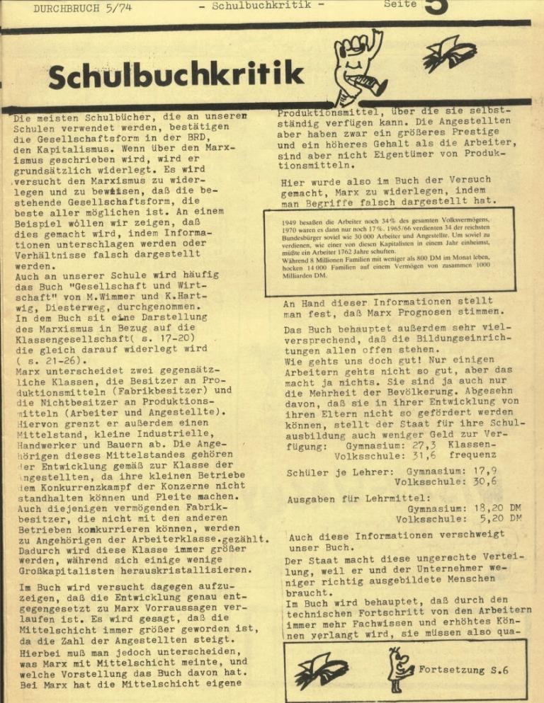 Durchbruch _ Rahlstedter Schülerpresse, 2. Jg., 1974, Nr. 5, Seite 5
