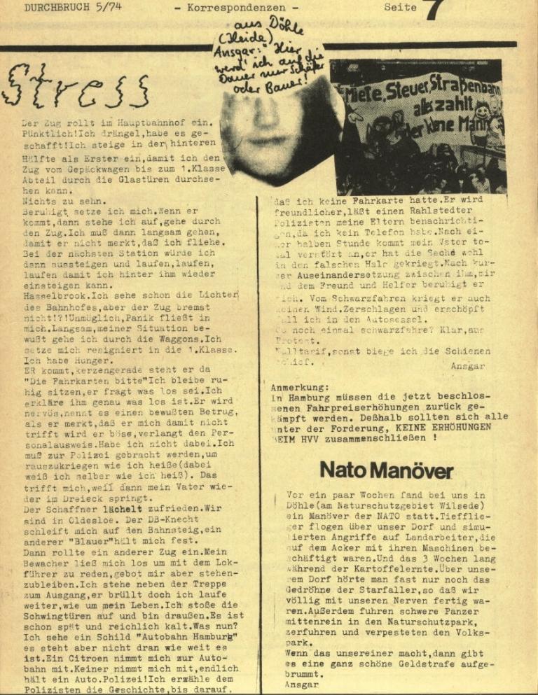 Durchbruch _ Rahlstedter Schülerpresse, 2. Jg., 1974, Nr. 5, Seite 7