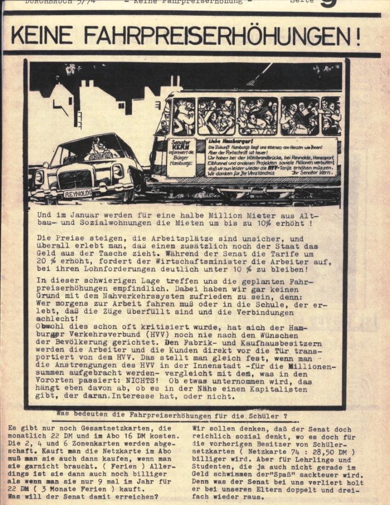 Durchbruch _ Rahlstedter Schülerpresse, 2. Jg., 1974, Nr. 5, Seite 9