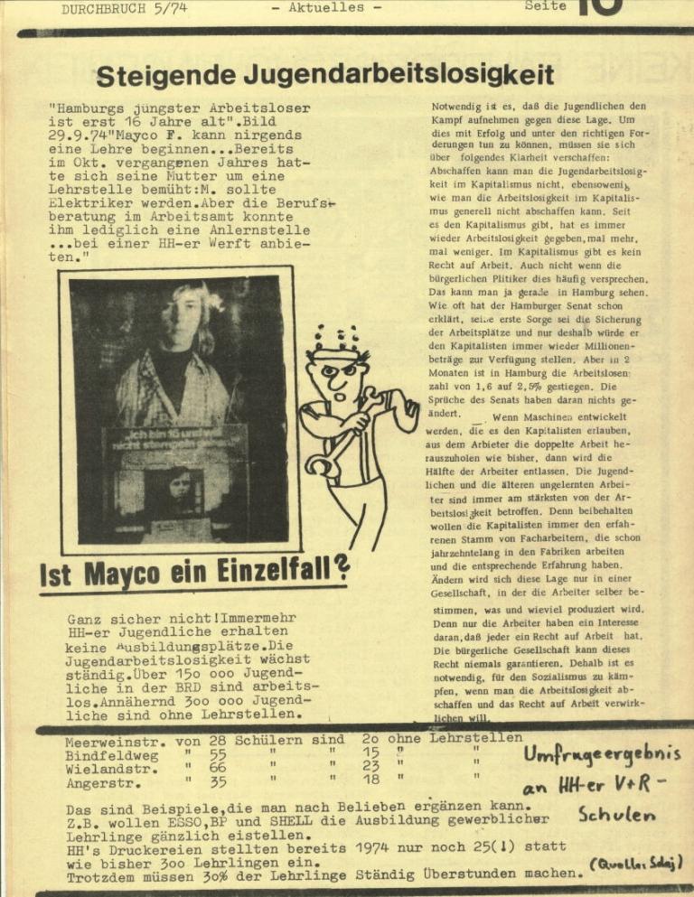 Durchbruch _ Rahlstedter Schülerpresse, 2. Jg., 1974, Nr. 5, Seite 10