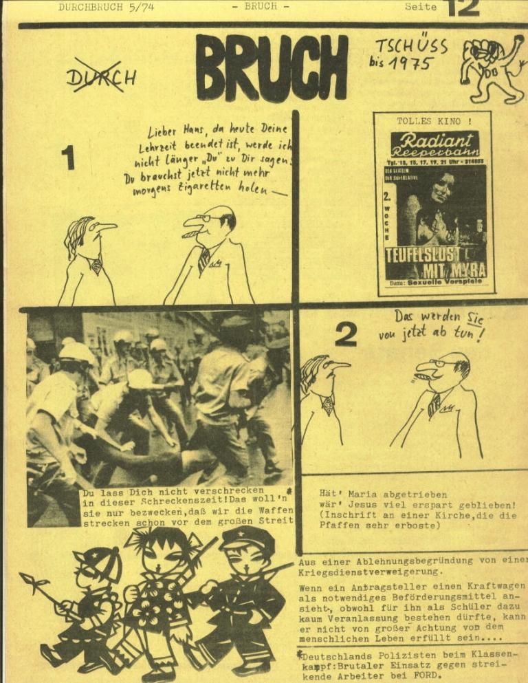 Durchbruch _ Rahlstedter Schülerpresse, 2. Jg., 1974, Nr. 5, Seite 12