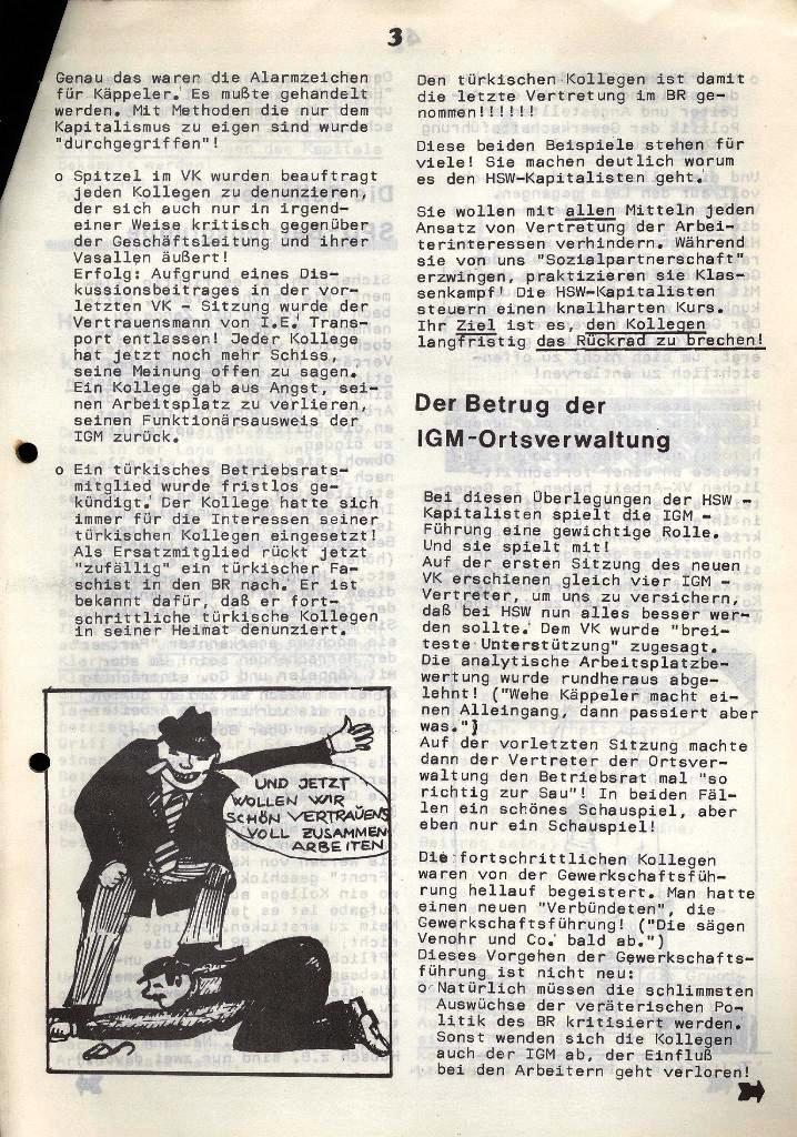 Der Metallarbeiter _ Zeitung des Kommunistischen Bundes/Gruppe Hamburg für die Kollegen der Metallindustrie _ Betriebsausgabe HSW, 30.7.1973, Seite 3