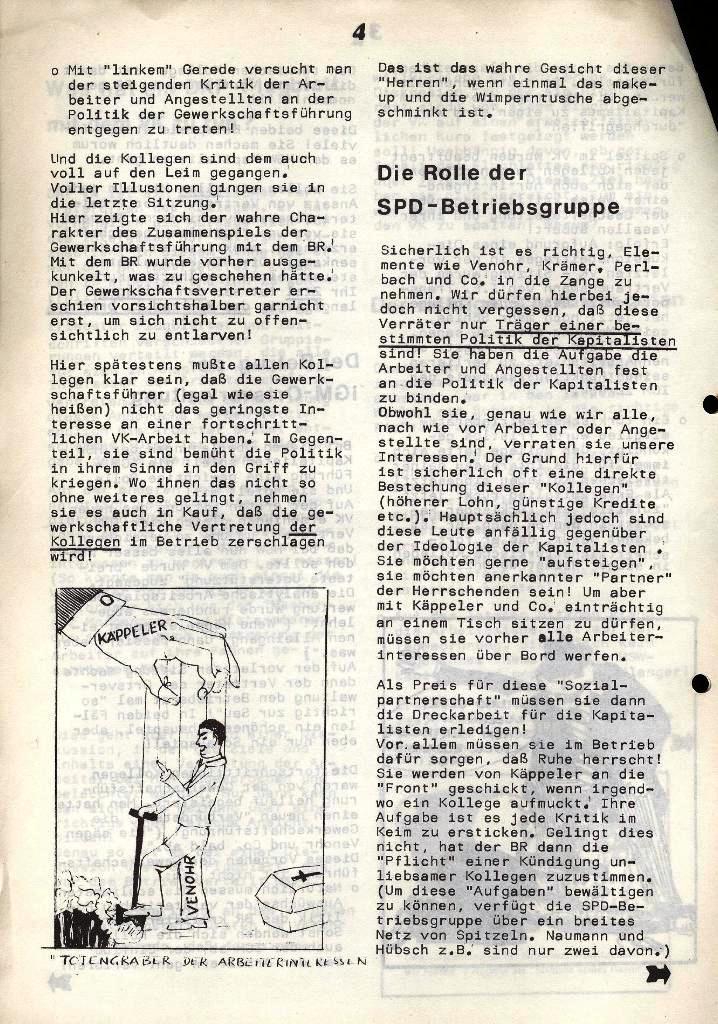 Der Metallarbeiter _ Zeitung des Kommunistischen Bundes/Gruppe Hamburg für die Kollegen der Metallindustrie _ Betriebsausgabe HSW, 30.7.1973, Seite 4