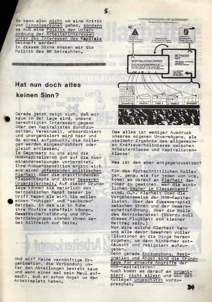 Der Metallarbeiter _ Zeitung des Kommunistischen Bundes/Gruppe Hamburg für die Kollegen der Metallindustrie _ Betriebsausgabe HSW, 30.7.1973, Seite 5