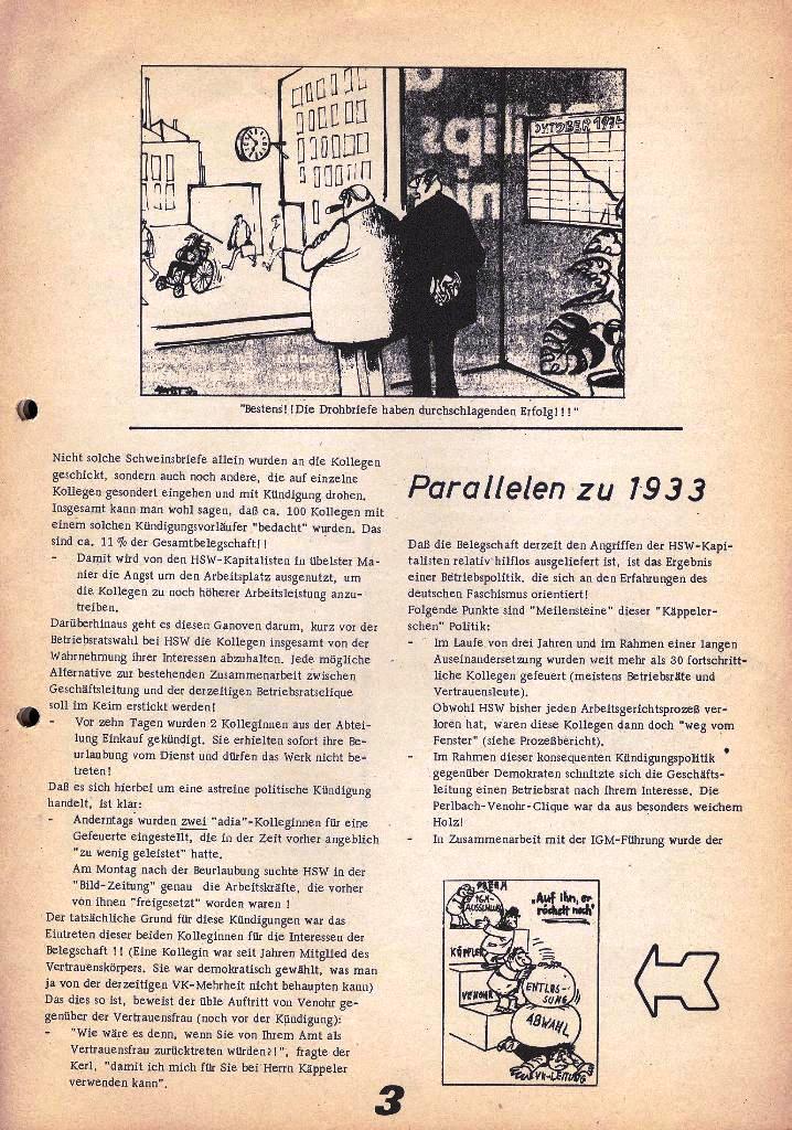 Der Metallarbeiter _ Zeitung des Kommunistischen Bundes/Gruppe Hamburg für die Kollegen der Metallindustrie _ Betriebsausgabe HSW, 27.2.1975, Seite 3