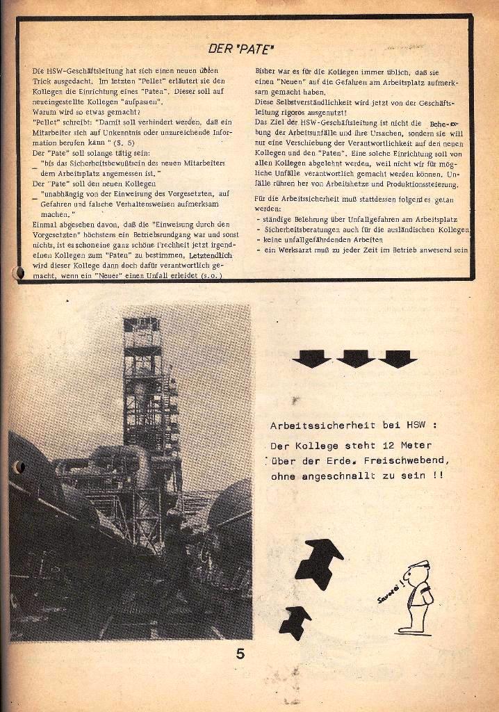 Der Metallarbeiter _ Zeitung des Kommunistischen Bundes/Gruppe Hamburg für die Kollegen der Metallindustrie _ Betriebsausgabe HSW, April 1975, Seite 5