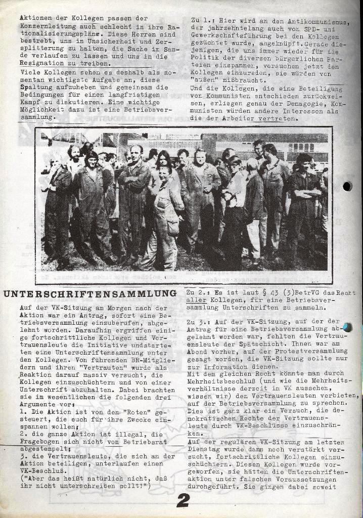 Der Metallarbeiter _ Zeitung des Kommunistischen Bundes/Gruppe Hamburg für die Kollegen der Metallindustrie _ Betriebsausgabe Hanomag_Henschel, 25.10.1973, Seite 2