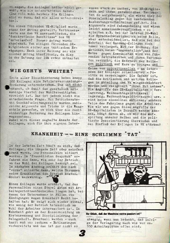 Der Metallarbeiter _ Zeitung des Kommunistischen Bundes/Gruppe Hamburg für die Kollegen der Metallindustrie _ Betriebsausgabe Hanomag_Henschel, 25.10.1973, Seite 3