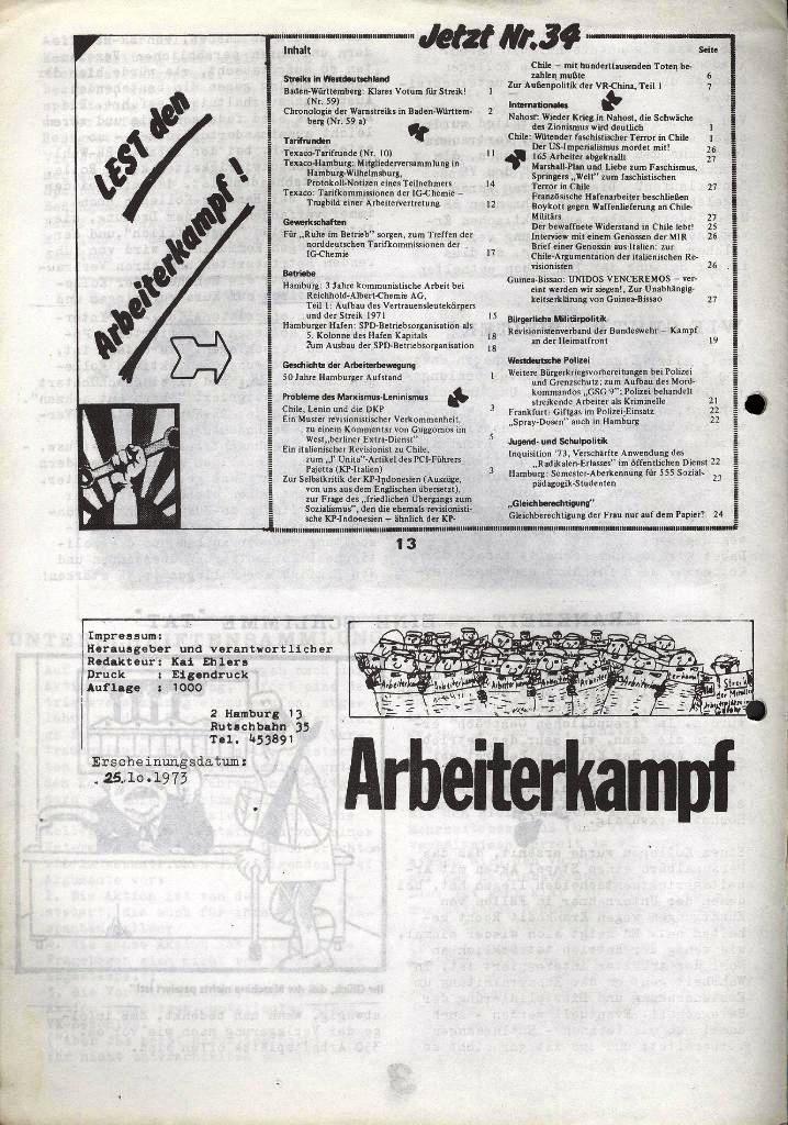 Der Metallarbeiter _ Zeitung des Kommunistischen Bundes/Gruppe Hamburg für die Kollegen der Metallindustrie _ Betriebsausgabe Hanomag_Henschel, 25.10.1973, Seite 4