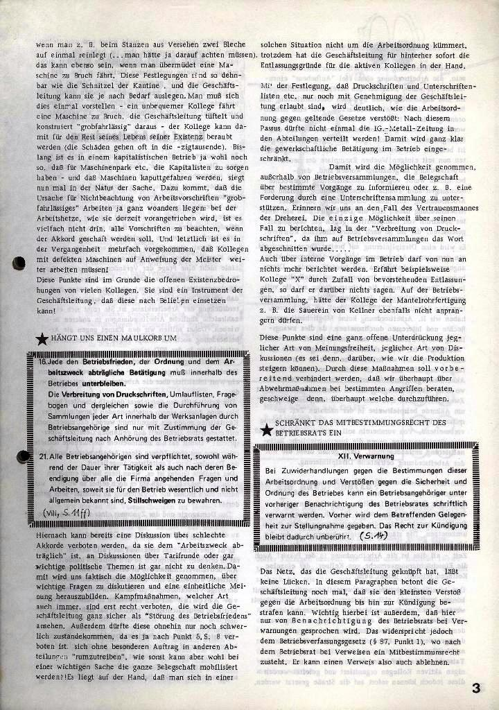 Der Metallarbeiter _ Zeitung des Kommunistischen Bundes/Gruppe Hamburg für die Kollegen der Metallindustrie _ Betriebsausgabe Hanomag_Henschel, 24.9.1974, Seite 3