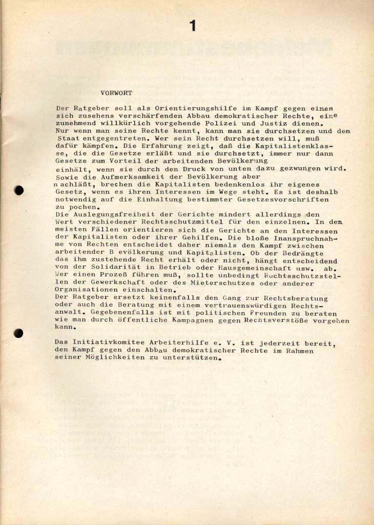 IKAH_Ratgeber, 1973, Seite 1