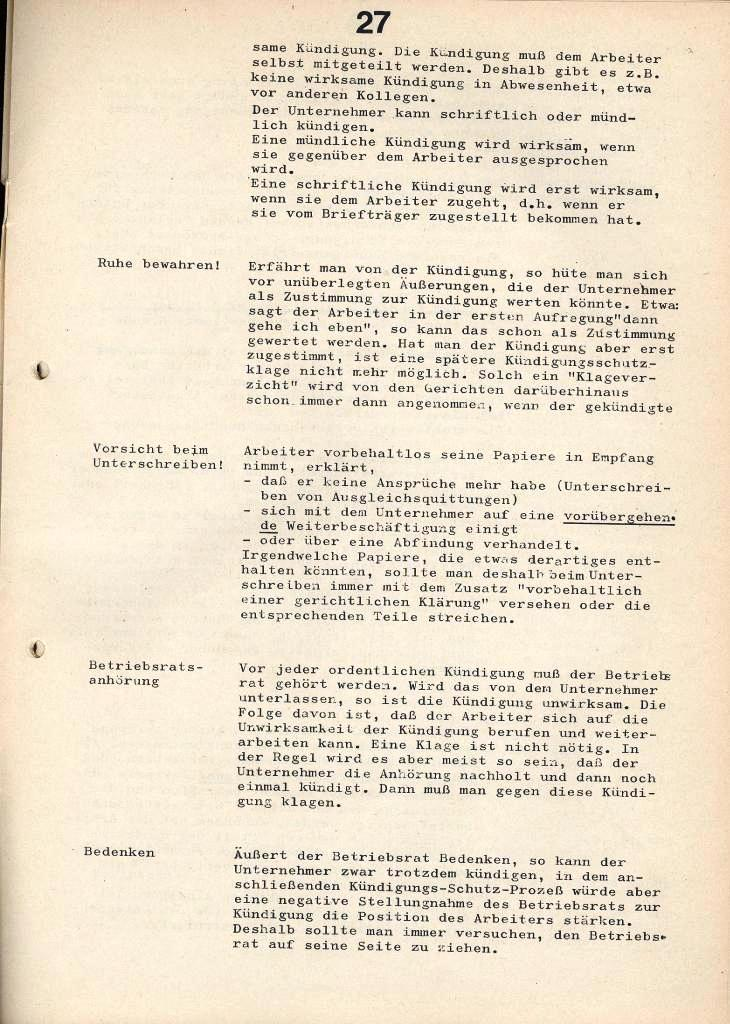IKAH_Ratgeber, 1973, Seite 27