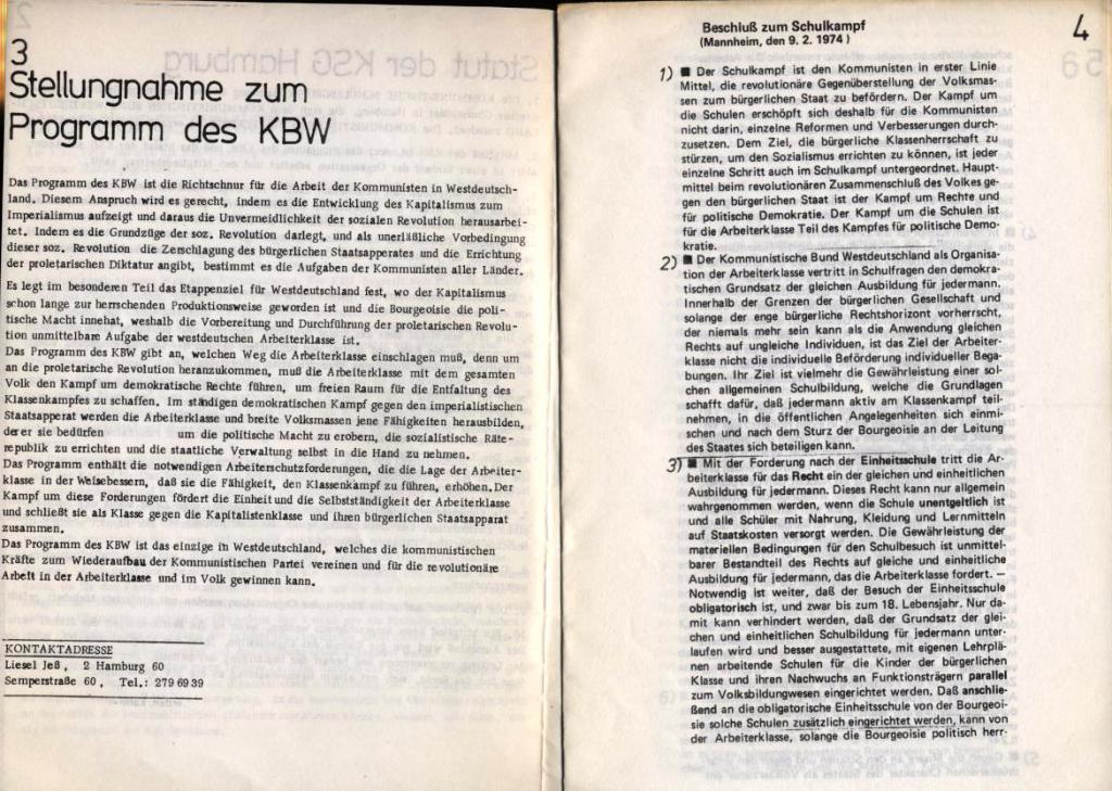 KSG, Gründungsdokumente, Hamburg, 20.10.1974, Seite 3 und 4