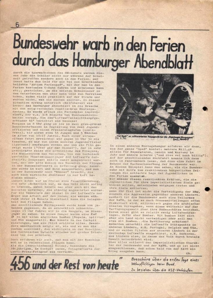 Kommunistische Schülerzeitung, Nr. 2, Hamburg, 15.4.1975, Seite 6