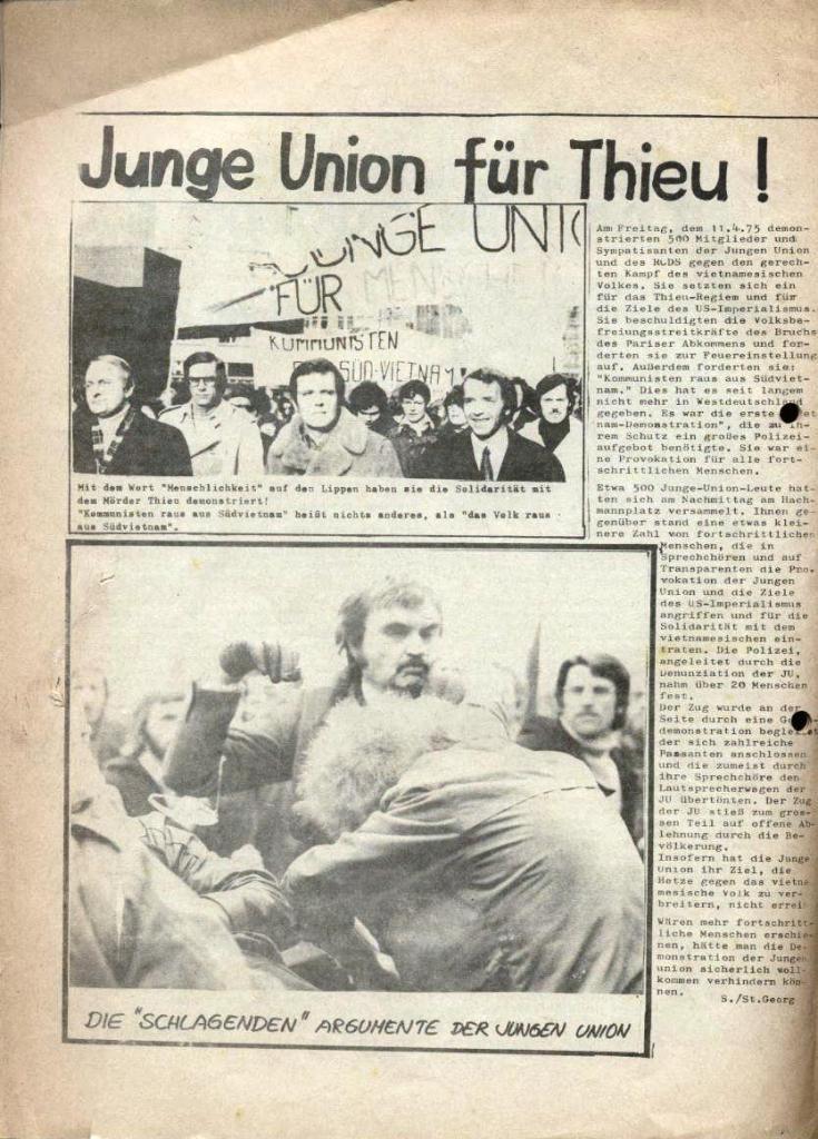 Kommunistische Schülerzeitung, Nr. 2, Hamburg, 15.4.1975, Seite 8