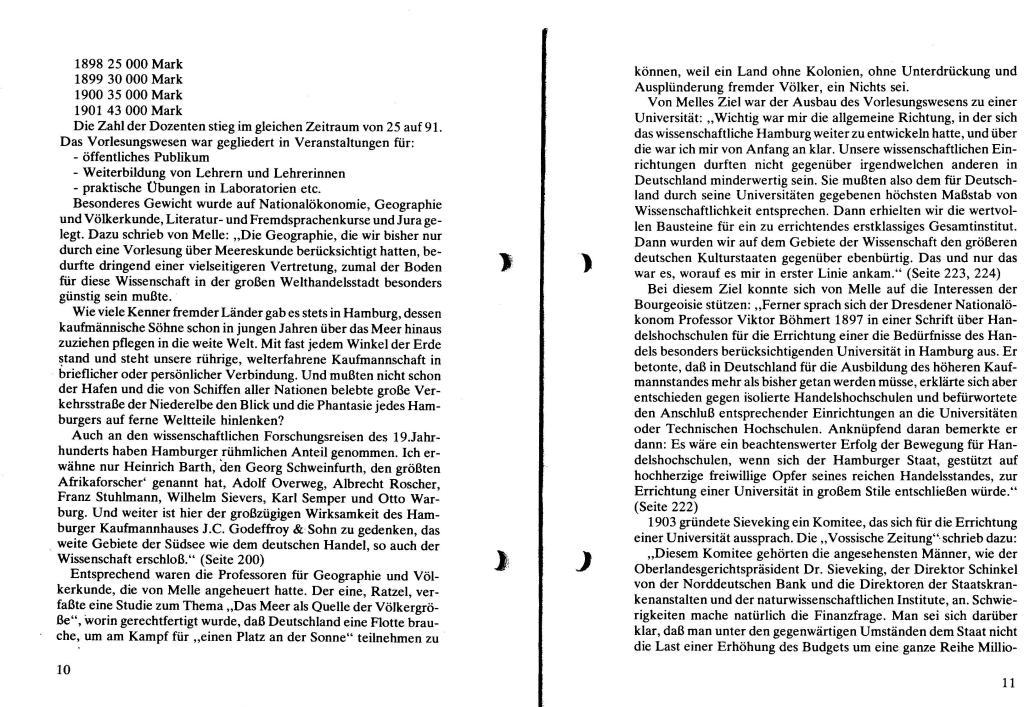 Broschüre der SSG Hamburg: Von Melle – Imperialistenidol in Sachen Kolonialpolitik und Unterdrückung, Seite 10f.