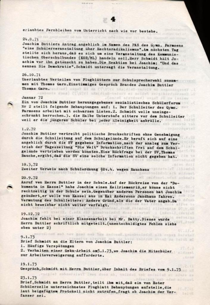 Broschüre: Kurze Dokumentation zum Fall Joachim Buttler, Seite 4